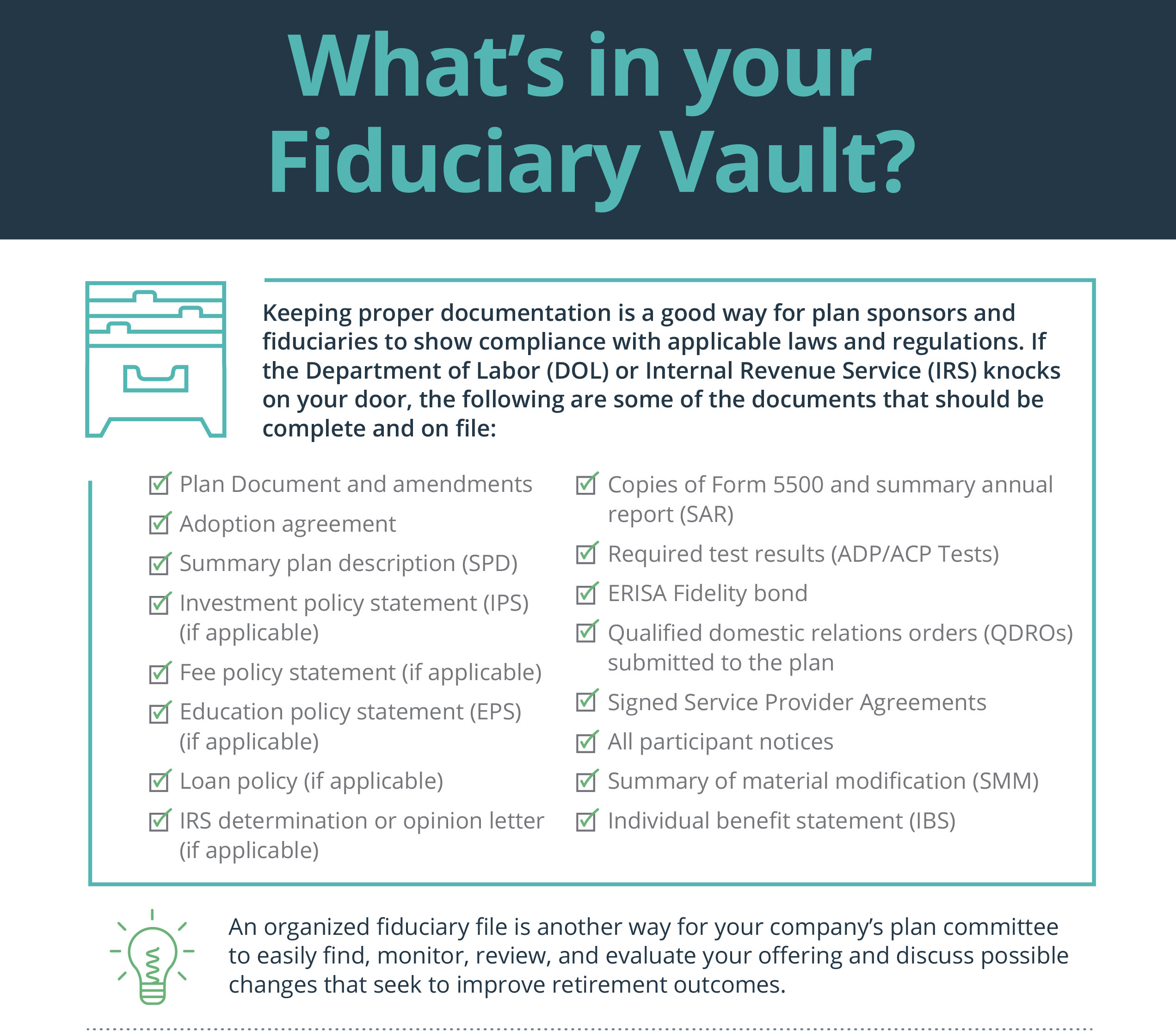 Infographic – Managing Fiduciary Duty pt 2 - Plan Sponsor